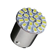 10 x hvit 1 156 BA15s 22-SMD LED lyspærer blinklys backup P21W 382 7506
