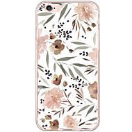 Недорогие Кейсы для iPhone 8 Plus-Кейс для Назначение Apple iPhone X iPhone 8 iPhone 6 iPhone 6 Plus Защита от пыли Защита от удара С узором Кейс на заднюю панель Цветы