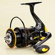 お買い得  釣り用アクセサリー-スピニングリール 5.2/1 ギア比+13 ボールベアリング 手の向き 交換可能 スピニング ルアー釣り - AD2000-5000