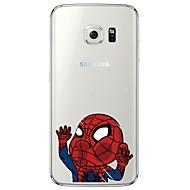お買い得  携帯電話ケース-ケース 用途 Samsung Galaxy Samsung Galaxy S7 Edge クリア パターン バックカバー カートゥン ソフト TPU のために S7 edge S7 S6 edge plus S6 edge S6 S5 S4