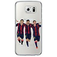 halpa Samsung kotelot / kuoret-Varten Samsung Galaxy S7 Edge Läpinäkyvä / Kuvio Etui Takakuori Etui Piirros Pehmeä TPU SamsungS7 edge / S7 / S6 edge plus / S6 edge / S6