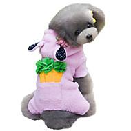 Hunde Mäntel Kapuzenshirts Overall Hundekleidung Winter Frühling/Herbst einfarbig Tier Cosplay Modisch Grau Braun Rosa
