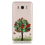 Для Кейс для  Samsung Galaxy Сияние в темноте / Прозрачный Кейс для Задняя крышка Кейс для дерево Мягкий TPU SamsungJ7 (2016) / J5 (2016)