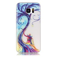 Voor Samsung Galaxy S7 Edge Glow in the dark / Patroon hoesje Achterkantje hoesje Boom Zacht TPU SamsungS7 edge / S7 / S6 edge plus / S6