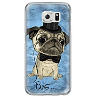 Недорогие Чехлы и кейсы для Galaxy S7-Для Samsung Galaxy S7 Edge Чехлы панели Ультратонкий Полупрозрачный Задняя крышка Кейс для С собакой Мягкий TPU для SamsungS7 edge S7 S6
