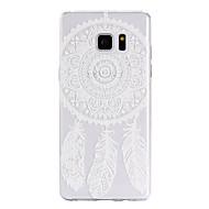 """Для Samsung Galaxy Note7 Чехлы панели Прозрачный С узором Задняя крышка Кейс для Рисунок """"Ловец снов"""" Мягкий TPU для Samsung Note 7"""