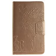 Для Кейс для  Samsung Galaxy Бумажник для карт / Кошелек / со стендом / Флип / Рельефный Кейс для Чехол Кейс для Одуванчик Твердый