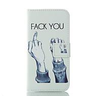 Недорогие Чехлы и кейсы для Galaxy J1(2016)-Кейс для Назначение SSamsung Galaxy Кейс для  Samsung Galaxy Бумажник для карт Кошелек со стендом Чехол Слова / выражения Мягкий Кожа PU