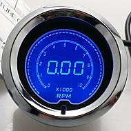 """abordables Piezas de Moto y de Quad-Medidor Digital de pantalla del tacómetro rpm calibre 2 """"(52mm) LCD de 7 colores / auto"""