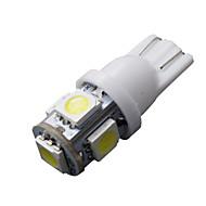 10 stk T10 hvit 168 194 501 W5W 5 SMD LED bil side kile lys lampe pære dc 12v