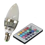 E14 Smart LED-lampe C35 1 leds Højeffekts-LED Fjernstyret RGB 100-230lm 2000-5000K Vekselstrøm 85-265V