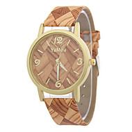Недорогие Женские часы-Жен. Часы Дерево Модные часы Кварцевый / Повседневные часы Кожа Группа На каждый день Разноцветный