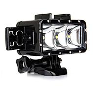 Spot Light LED Αδιάβροχο περίβλημα Ενσωματωμένο ΦΛΑΣ Για την Κάμερα Δράσης Gopro 5 Gopro 3 Gopro 2 Gopro 3+ Gopro 1 Αθλητισμός DV SJ6000