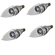 halpa LED-kynttilälamput-E14 LED-kynttilälamput C35 1 ledit Teho-LED Koristeltu RGB 200-240lm RGBK AC 85-265 AC 220-240 AC 100-240 AC 110-130V