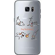 olcso Galaxy S6 Edge Plus tokok-Case Kompatibilitás Samsung Galaxy Samsung Galaxy S7 Edge Minta Fekete tok Kutya Puha TPU mert S7 edge S7 S6 edge plus S6 edge S6