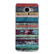 Недорогие Чехлы и кейсы для Galaxy A5(2016)-Для Кейс для  Samsung Galaxy С узором Кейс для Задняя крышка Кейс для Полосы / волосы Мягкий TPU Samsung A5(2016) / A3(2016)