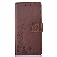 Для Кейс для  Samsung Galaxy Бумажник для карт / Матовое / Рельефный Кейс для Чехол Кейс для Бабочка Твердый Искусственная кожа SamsungOn