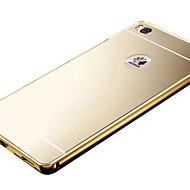 お買い得  携帯電話ケース-ケース 用途 Huawei社の名誉4X / Huawei社の名誉7 / Huawei社は、5Sをお楽しみください Huaweiケース メッキ仕上げ / ミラー バックカバー ソリッド ハード アクリル のために Huawei P8 Lite / Huawei P8 / Huawei Honor 7
