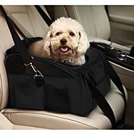 abordables Accesorios y Ropa para Gatos-Gato Perro Transportines y Mochilas de Viaje Cobertor de Asiento Para Coche Mascotas Portadores Portátil Plegable Un Color Negro Verde