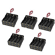 5PCS 5 8 Buckle With 9V Battery Box Battery Box Back To Back 8AA 12V Eight AA Battery Case