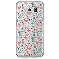 halpa Galaxy S4 kotelot / kuoret-Etui Käyttötarkoitus Samsung Galaxy Samsung Galaxy S7 Edge Läpinäkyvä Kuvio Takakuori Eläin Pehmeä TPU varten S7 edge S7 S6 edge plus S6
