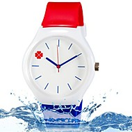 cheap Girl's Watches-Wrist Watch Quartz Blue / Red Cool Colorful Analog Ladies Leaves Candy color Casual Fashion - Rainbow