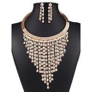 בגדי ריקוד נשים סט תכשיטים הצהרה, נשים, וינטאג', ארופאי, אופנתי לִכלוֹל שרשרת / עגילים זהב עבור חתונה Party יומי קזו'אל עבודה / שרשראות