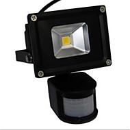 10w medført oversvømmelse lys lampe hvid varmt lys pir sensor (ac85-265v)