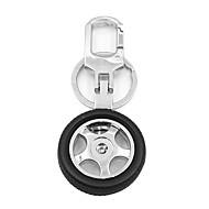 ziqiao creativa llave del coche del anillo dominante de la cadena de metal llavero del diseño del cubo de rueda regalo fresco para el