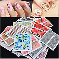 voordelige -50pcs Nail Art Sticker Nagelsieraden / 3D Nagelstickers Bloem make-up Cosmetische Nail Art Design