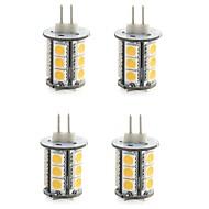 billige LED-lamper med G-sokkel-G4 LED-lamper med G-sokkel T 18 lysdioder SMD 5050 Dekorativ Varm hvid Kold hvid 300-400lm 3000/6000K Jævnstrøm 12V