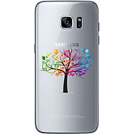 Недорогие Чехлы и кейсы для Galaxy S-Кейс для Назначение SSamsung Galaxy Samsung Galaxy S7 Edge С узором Кейс на заднюю панель дерево Мягкий ТПУ для S7 edge / S7 / S6 edge plus