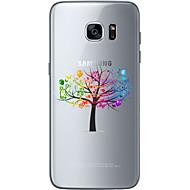 Varten Samsung Galaxy S7 Edge Kuvio Etui Takakuori Etui Puu Pehmeä TPU Samsung S7 edge / S7 / S6 edge plus / S6 edge / S6