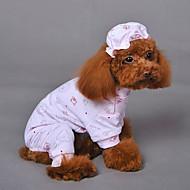 abordables Joyas & Accesorios del Perro-Gato Perro Mono de perrito Ropa para Perro Animal Amarillo Azul Rosa Algodón Disfraz Para mascotas Hombre Mujer Cosplay Boda