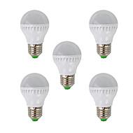 olcso LED gömbbúrás izzók-e26 / e27 led világító izzók g45 26 smd 3022 350lm meleg fehér 2700k ac 220-240v