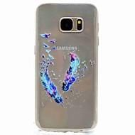 Για samsung galaxy s7 άκρη s7 eforcase φτερά ζωγραφική tpu τηλέφωνο θήκη samsung galaxy s7 s5 s5 μίνι