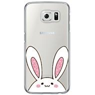 Недорогие Чехлы и кейсы для Galaxy S6 Edge Plus-Кейс для Назначение SSamsung Galaxy S7 edge S7 Ультратонкий Полупрозрачный Задняя крышка Мультипликация Мягкий TPU для S7 edge S7 S6 edge