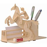 Puzzle Drewniane puzzle Cegiełki DIY Zabawki Wagon / Konik 1 Drewno Kryształowy Model / klocki
