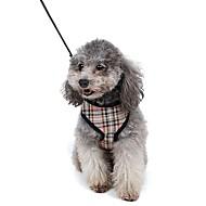 お買い得  -ネコ 犬 ハーネス リード 調整可能 / 引き込み式 高通気性 ソフト 安全用具 ランニング ベスト カジュアルスーツ コスプレ 幾何学的な ファブリック メッシュ イエロー レッド ブルー ピンク
