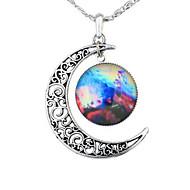 Недорогие $0.99 Модное ювелирное украшение-Жен. Ожерелья с подвесками - MOON, Галактика европейский, Мода Зеленый, Синий, Красный / Белый Ожерелье 1шт Назначение Для вечеринок, Halloween, Бизнес