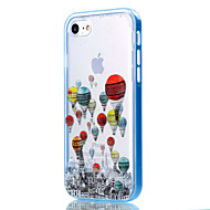 Недорогие Кейсы для iPhone 8-Кейс для Назначение Apple iPhone 8 iPhone 8 Plus Кейс для iPhone 5 iPhone 6 iPhone 7 Прозрачный С узором Кейс на заднюю панель Воздушные