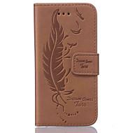 Kılıf Na Samsung Galaxy S7 edge S7 Flip Futerał Pióra Twarde Sztuczna skóra na S7 edge S7 S6 edge S6 S5