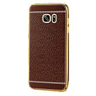 お買い得  携帯電話ケース-ケース 用途 Samsung Galaxy S7 edge S7 メッキ仕上げ バックカバー 純色 ソフト TPU のために S7 plus S7 edge plus S7 edge S7