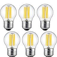 5W E26/E27 LED Filament Bulbs G45 6 COB 550lm Warm White 2700K Decorative AC 220-240V