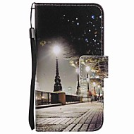 Недорогие Чехлы и кейсы для Galaxy А-Кейс для Назначение SSamsung Galaxy A5(2016) A3(2016) Кошелек Бумажник для карт со стендом Чехол Вид на город Твердый Искусственная кожа