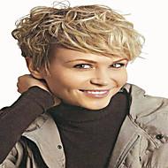 жен. Парики из искусственных волос Без шапочки-основы Волнистые Клубника Blonde / Bleach Blonde Парик из натуральных волос Карнавальные