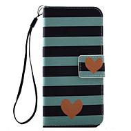 Недорогие Кейсы для iPhone 8 Plus-Кейс для Назначение Apple iPhone 8 iPhone 8 Plus Кейс для iPhone 5 iPhone 6 iPhone 7 Бумажник для карт Флип С узором Чехол С сердцем