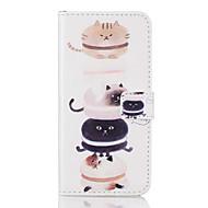 tok Για Samsung Galaxy A5(2016) A3(2016) Θήκη καρτών Ανοιγόμενη Με σχέδια Πλήρης κάλυψη Γάτα Σκληρή PU Δέρμα για A5(2016) A3(2016)