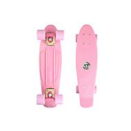 22 inch クルーザースケートボード スタンダードスケートボード PP(ポリプロピレン) ライトピンク