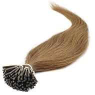 お買い得  -Febay フュージョン/Iチップ 人間の髪の拡張機能 ストレート 人毛 ダークオーバーン ブリーチブロンド ライトブロンド